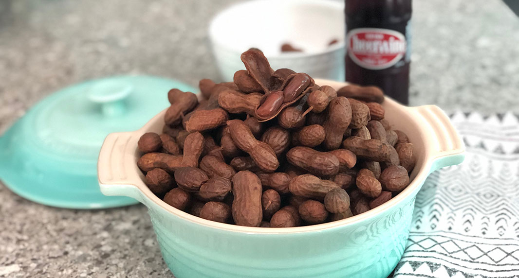 Sweet & Spicy Cheerwine Boiled Peanuts