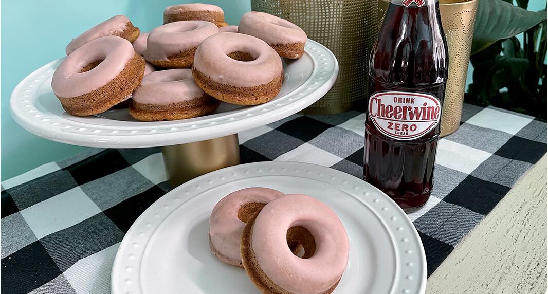 Keto Cheerwine Glazed Donuts