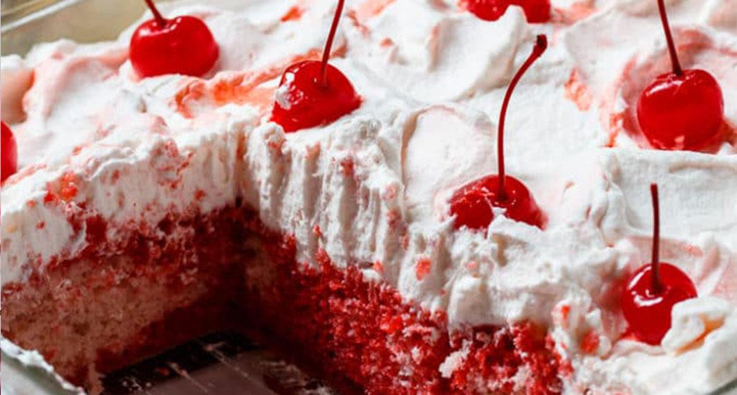 Cheerwine Poke Cake