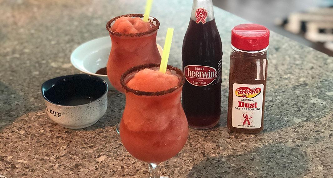 Cheerwine & Texas Pete Margarita