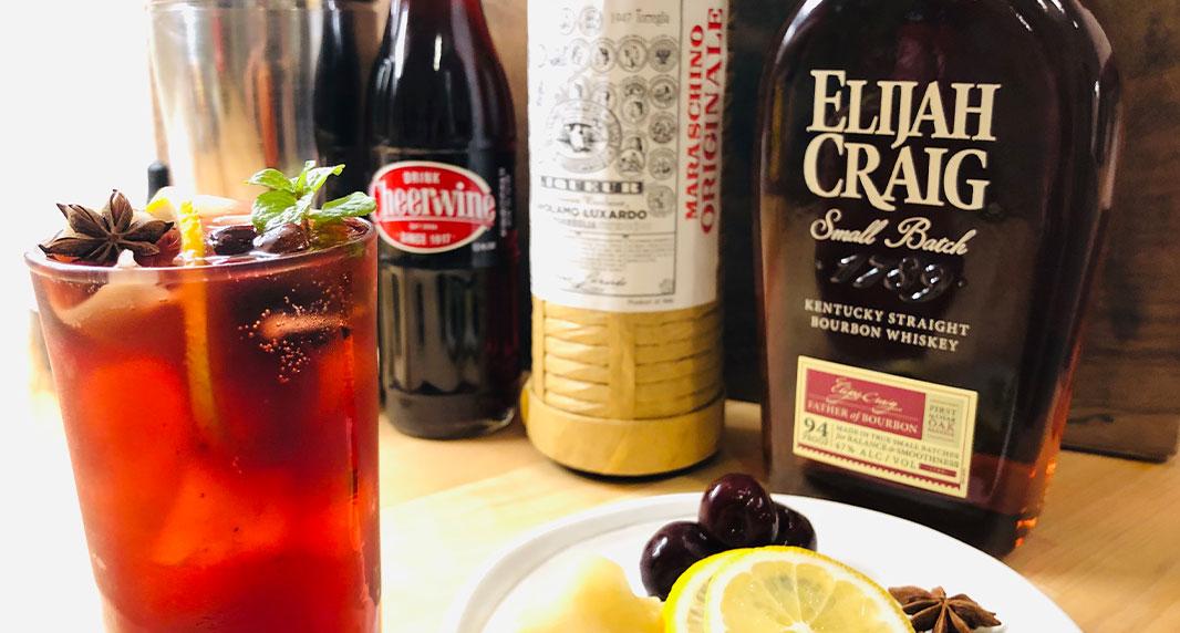 Cheerwine Meyer Lemon and Bourbon Smash